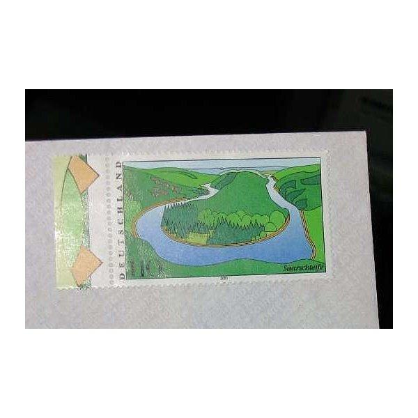 briefmarke wert 1,10 dm saarschleife 2000 ungestempelt von