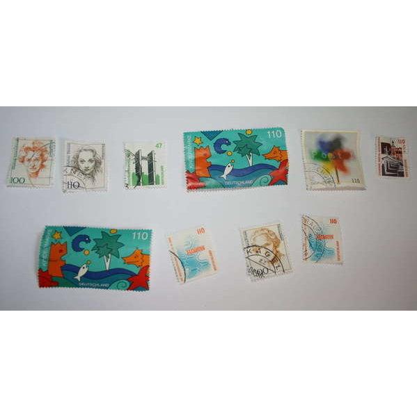 10 Briefmarken DM 47 110 100 Kindermarke Post