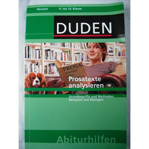 Duden Abiturhilfe Prosatexte Analysieren Grundbegriffe Und
