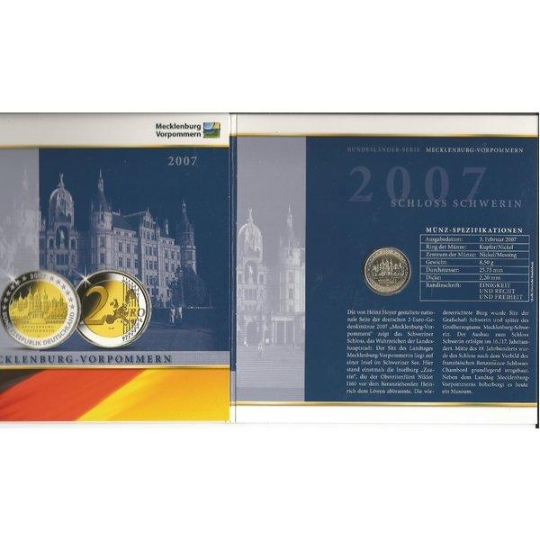 2 Euro Münze Des Jahres 2007 Mecklenburg Vorpommern Von Deutsche