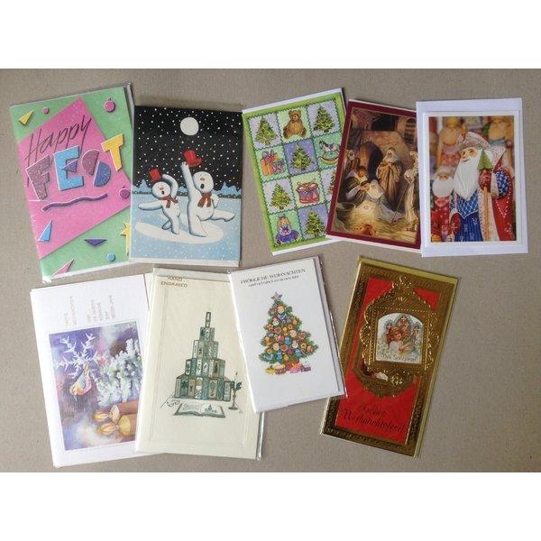 9 verschiedene weihnachtskarten mit umschlag. Black Bedroom Furniture Sets. Home Design Ideas