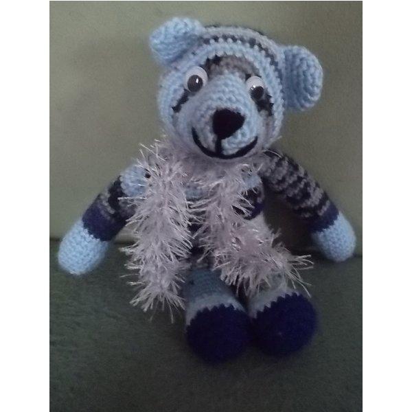 Amigurumi Zubehor : Amigurumi Teddy blau von schlummbine (ID 18574887)