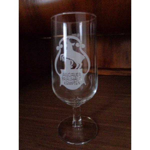bierglas glas allg uer brauhaus kempten 0 25 l id 18604694. Black Bedroom Furniture Sets. Home Design Ideas